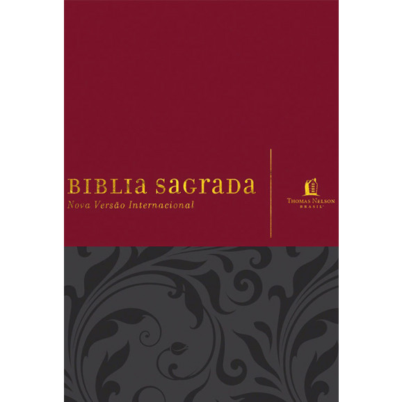 Bíblia Sagrada | NVI | Com Espaços Para Anotações | Luxo | Vermelha e Cinza