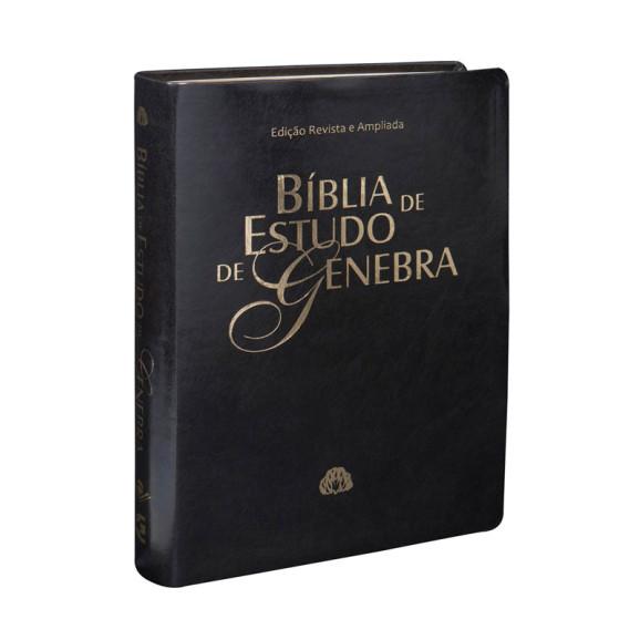 Bíblia de Estudo Genebra | RA | Revista e Ampliada | Luxo | Preta