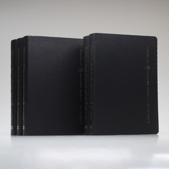 Kit 5 Bíblias | Anotada Expandida | RA | Couro | Letra Normal | Preta
