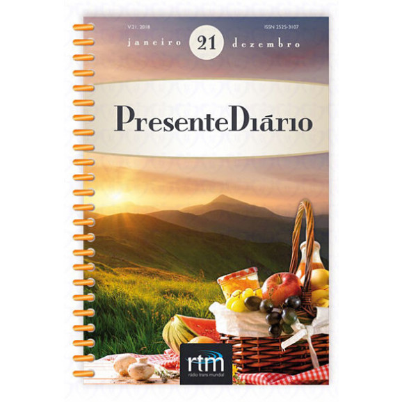 Livro Devocional Presente Diário Volume 21   2018   Letra Grande   Espiral   Brochura
