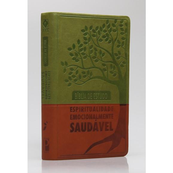 Bíblia de Estudo Espiritualidade Emocionalmente Saudável | NVT | Letra Normal | Capa PU | Verde