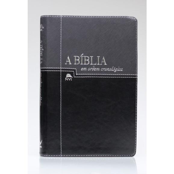 A Bíblia em Ordem Cronológica | NVI | Letra Normal | Luxo | Preta