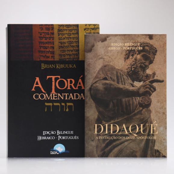 Kit 2 Livros   A Torá Comentada + Didaqué