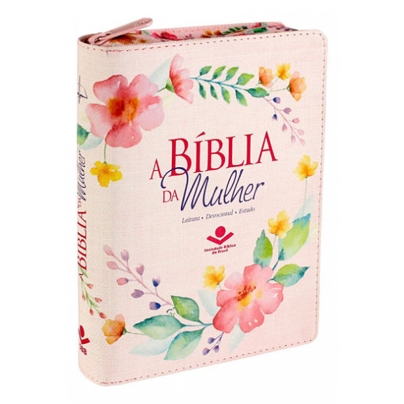 A Bíblia da Mulher | RC | Letra Normal | Capa Sintética | Índice | Zíper | Flores