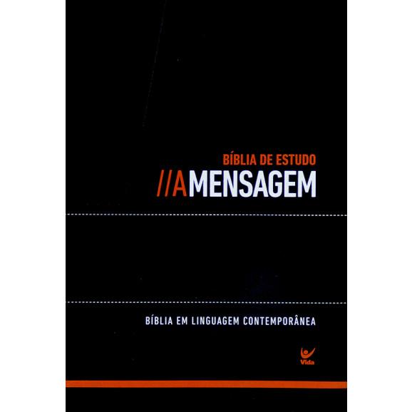 Bíblia de Estudo   A Mensagem   Letra Média   Luxo   Índice   Preto