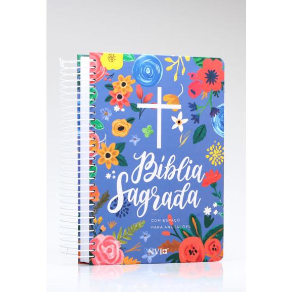 Bíblia Sagrada | NVI | Letra Normal | Capa Dura | Espiral | Anote Céu Azul
