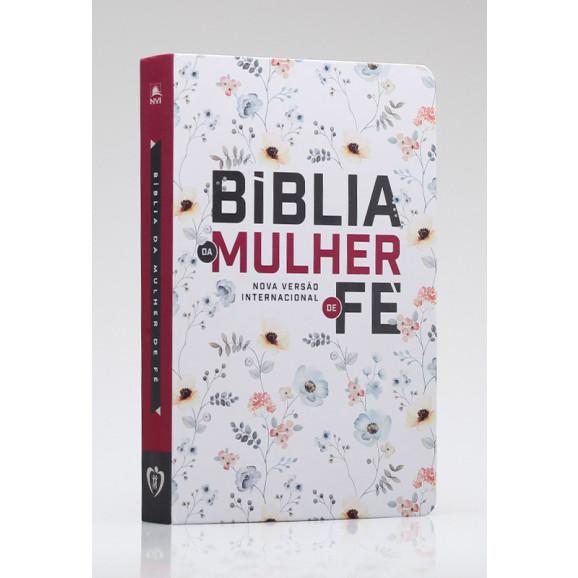 Bíblia De Estudo Da Mulher de Fé | NVI | Letra Normal | Soft Touch | Floral
