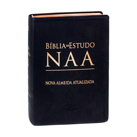 Bíblia de Estudo   NAA   Letra Normal   Capa Sintética   Preta