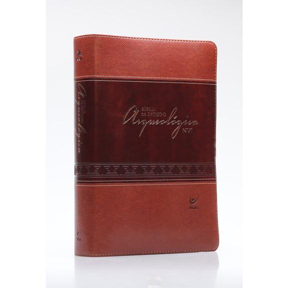Bíblia de Estudo Arqueológica   NVI   Letra Média   Luxo   Marrom
