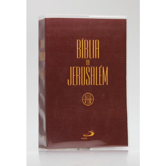 Bíblia de Jerusalém | Letra Normal | Brochura | Tamanho Médio | Marrom