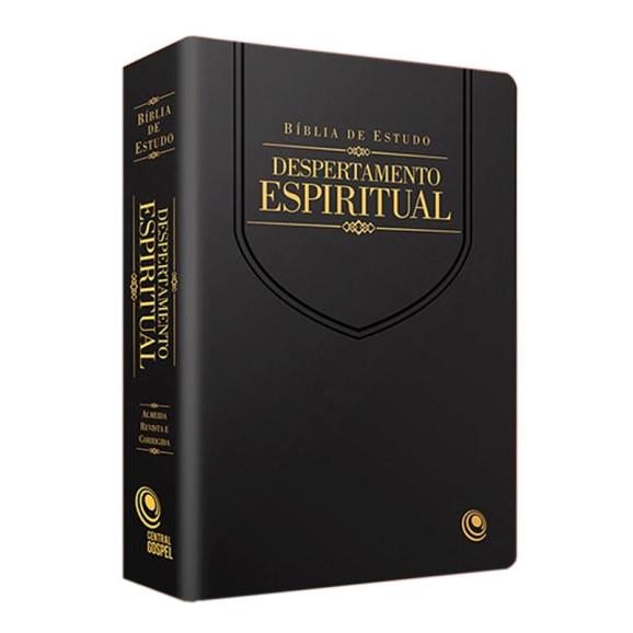 Bíblia de Estudo | Despertamento Espiritual | RC | Letra Normal | Luxo | Preta