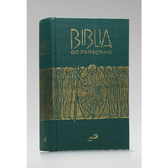 Bíblia do Peregrino | Letra Normal | Capa Dura | Tamanho Médio | Verde
