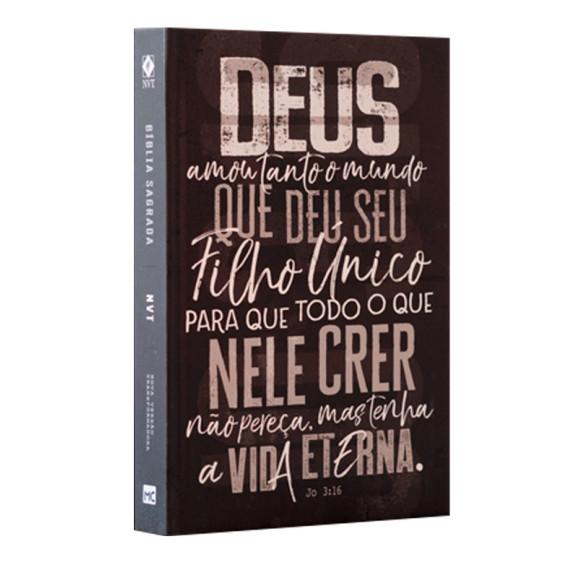 Bíblia Sagrada   NVT   Letra Normal   Capa Dura   João 3.16 Chumbo