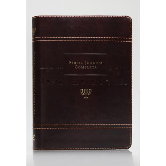 Bíblia Judaica Completa   Letra Normal   Luxo   Marrom