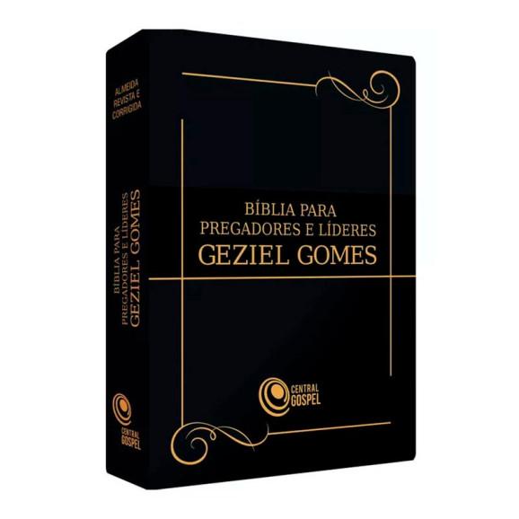 Bíblia para Pregadores e Líderes   Geziel Gomes   Letra Grande   Luxo   Preta