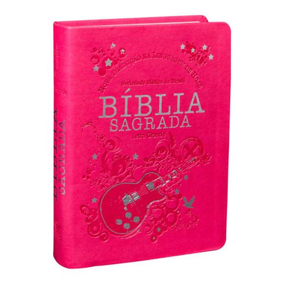 Bíblia Sagrada | NTLH | Letra Grande | Capa Sintética | Pink