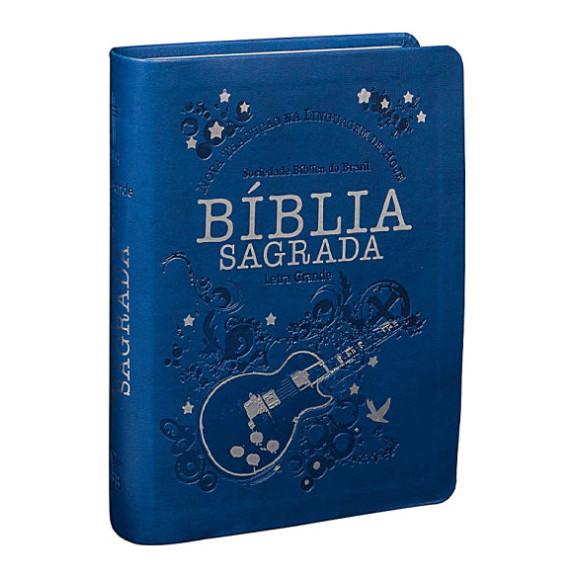 Bíblia Sagrada | NTLH | Letra Grande | Capa Sintética | Azul