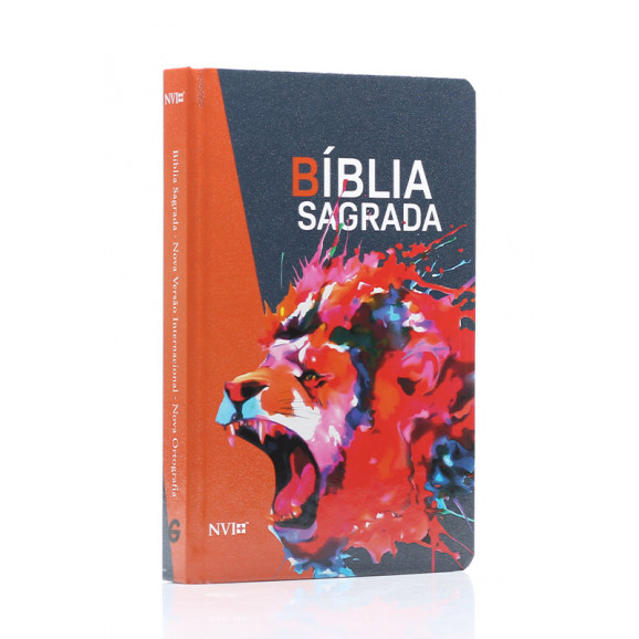 Bíblia Sagradaa   NVI   Letra Normal   Capa Dura   Leão Rugindo