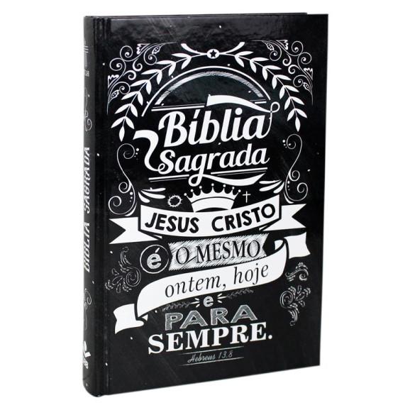 Bíblia Sagrada   Lettering   NTLH   Capa Dura   Preta