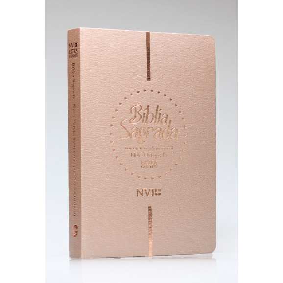 Bíblia Sagrada   NVI   Letra Extragigante   Luxo   Nova Ortografia   Champagne