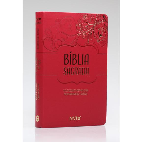 Bíblia Sagrada   NVI   Letra Gigante   Luxo   Nova Ortografia   Vermelha