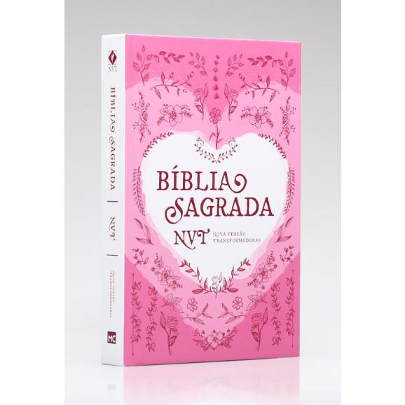 Bíblia Sagrada   NVT   Letra Normal   Capa Dura   Coração Rosa