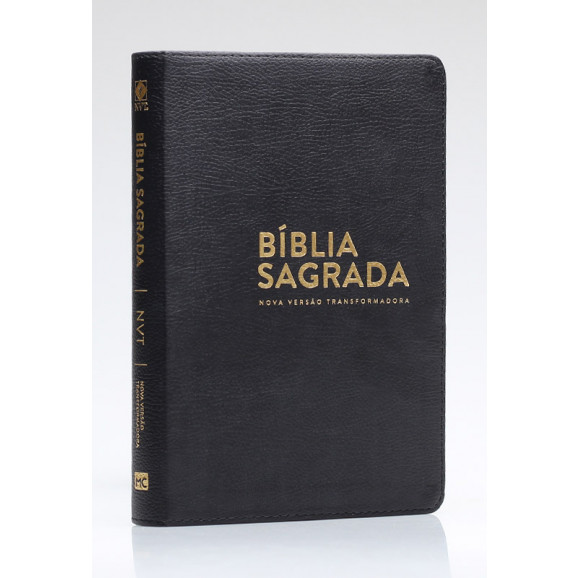 Bíblia Sagrada | NVT | Letra Normal | Luxo | Preta