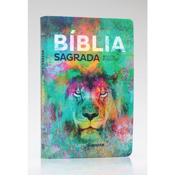 Bíblia Sagrada | RC | Letra Gigante | Soft Touch | Leão Color