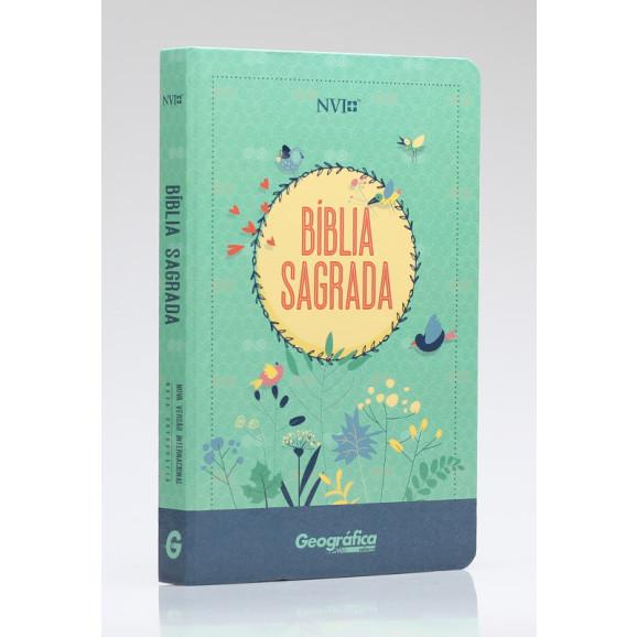 Bíblia Sagrada | NVI | Letra Normal | Semi-Luxo | Verde Água