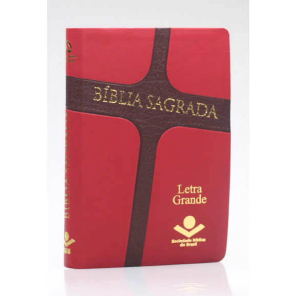 Bíblia Sagrada | NAA | Letra Grande | Capa Sintética | Vermelha Cruz