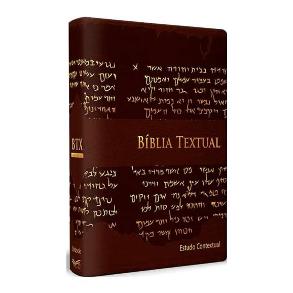 Bíblia de Estudo Textual | Letra Gigante | Luxo | Marrom
