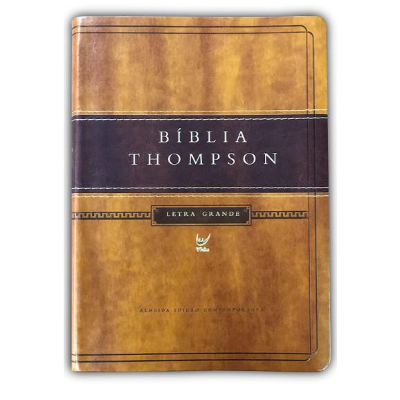 Bíblia de Estudo Thompson | AEC | Letra Grande | Capa Luxo | Marrom