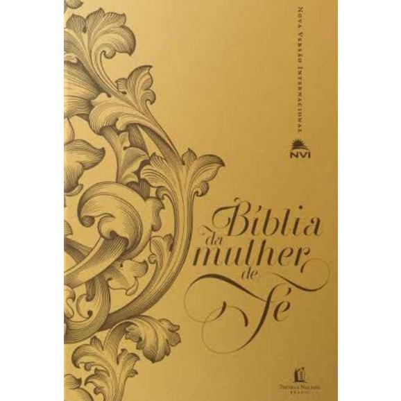Bíblia de Estudo da Mulher de Fé | NVI | Letra Normal | Capa Sintética | Sheila Walsh
