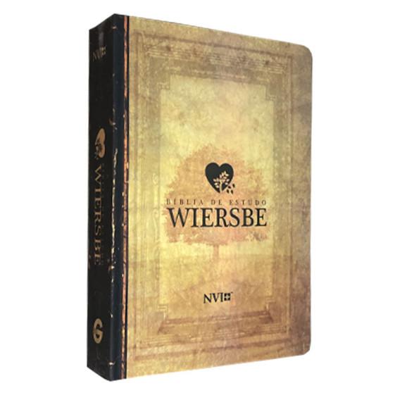 Bíblia de Estudo Wiersbe   NVI   Letra Grande   Semi-Luxo   Estampada