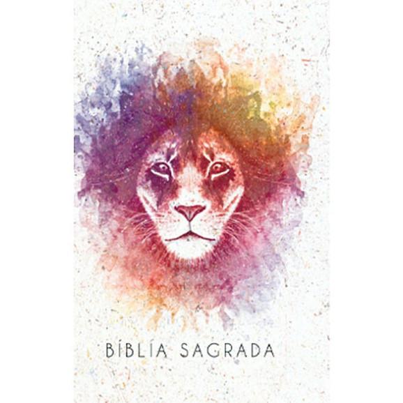 Bíblia Sagrada | King James Atualizada | Letra Grande | Leão | Aquarela | Rosa + Blessing Notes