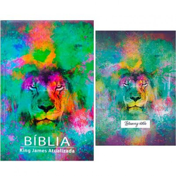 Bíblia Sagrada | King James Atualizada | Letra Grande | Leão Color + Blessing Notes