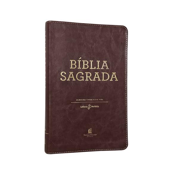 Bíblia Sagrada | ACF | Leitura Perfeita | Letra Normal | Capa Sintética | Marrom