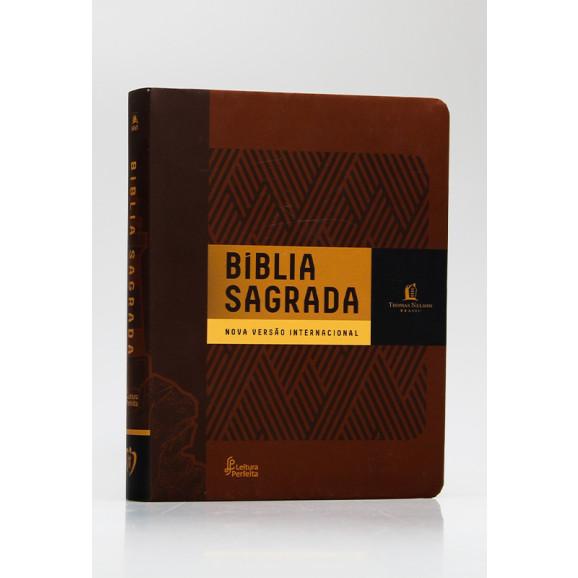 Bíblia Sagrada   NVI   Leitura Perfeita   Letra Normal   Soft Touch   Marrom   Com Espaço Para Anotações