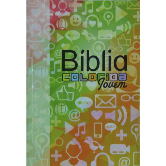 Bíblia Almeida Colorida Jovem | Letra Normal | Brochura | Redes Sociais