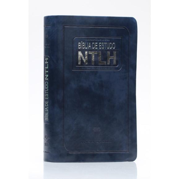 Bíblia de Estudo   NTLH   Letra Normal   Luxo   Azul