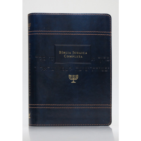 Bíblia Judaica Completa   Letra Normal   Luxo   Azul