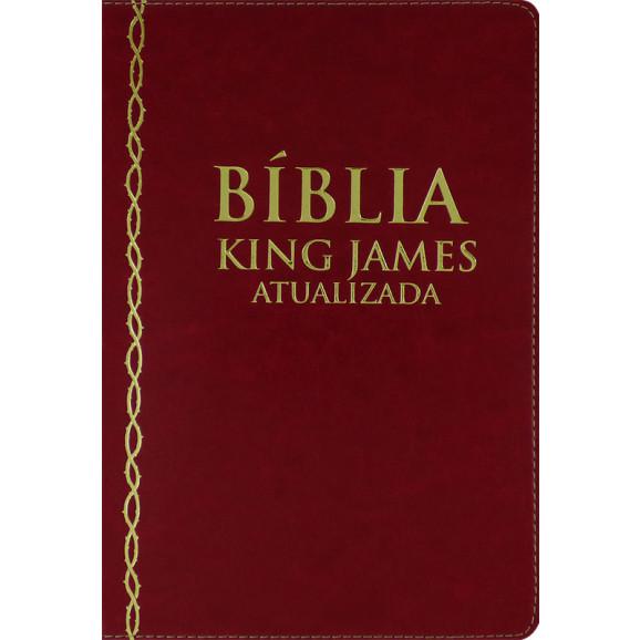 Bíblia   King James Atualizada   Letra Grande   Luxo   Vinho