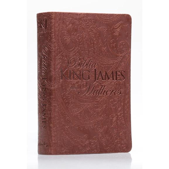 Bíblia Sagrada | King James Para Mulheres | Letra Normal | Luxo | Marrom