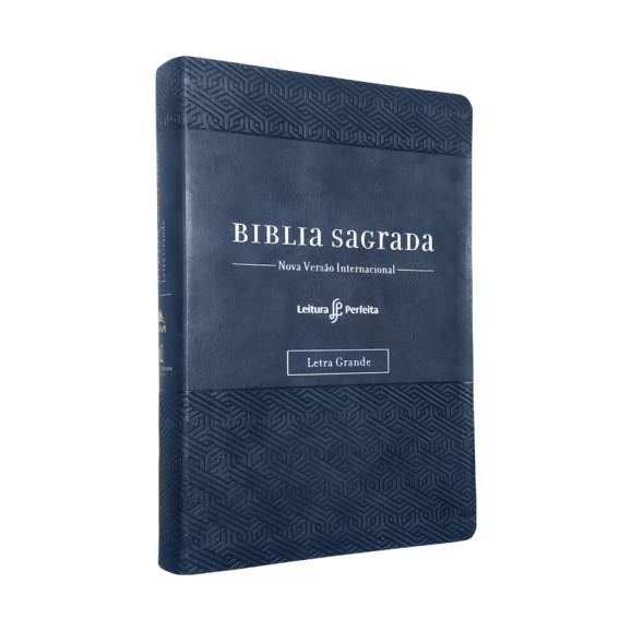 Bíblia Sagrada | NVI | Leitura Perfeita | Letra Grande | Luxo | Azul