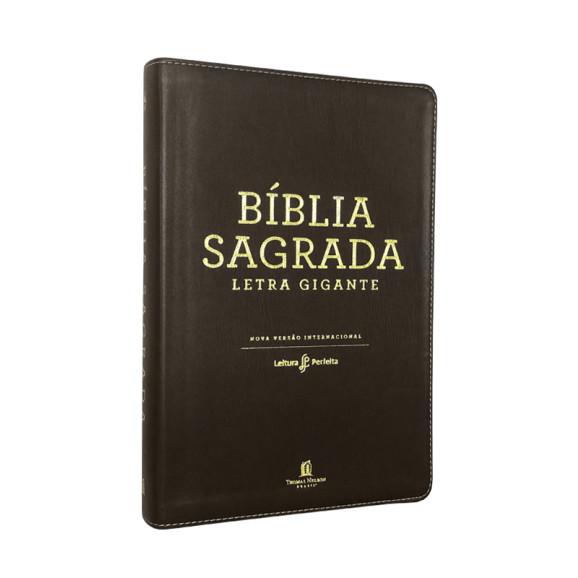 Bíblia Sagrada | NVI | Letra Gigante | Couro | Marrom