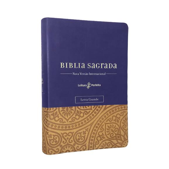 Bíblia Sagrada | NVI | Leitura Perfeita | Letra Grande | Luxo | Roxa