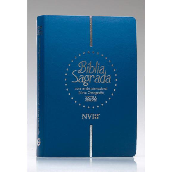 Bíblia Sagrada | NVI | Letra Extragigante | Luxo | Nova Ortografia | Azul