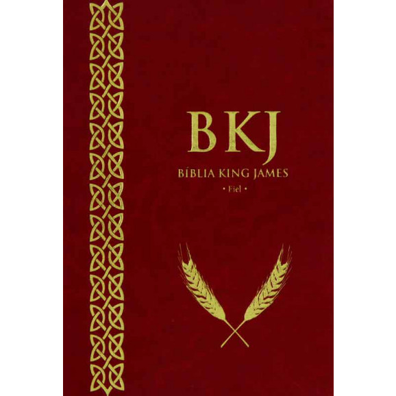 Bíblia | King James Fiel | Letra Normal | Luxo | Vinho