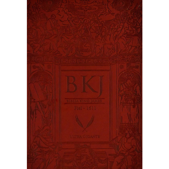 Bíblia | King James Fiel 1611 | Ultra Gigante | Capa Sintética | Marrom