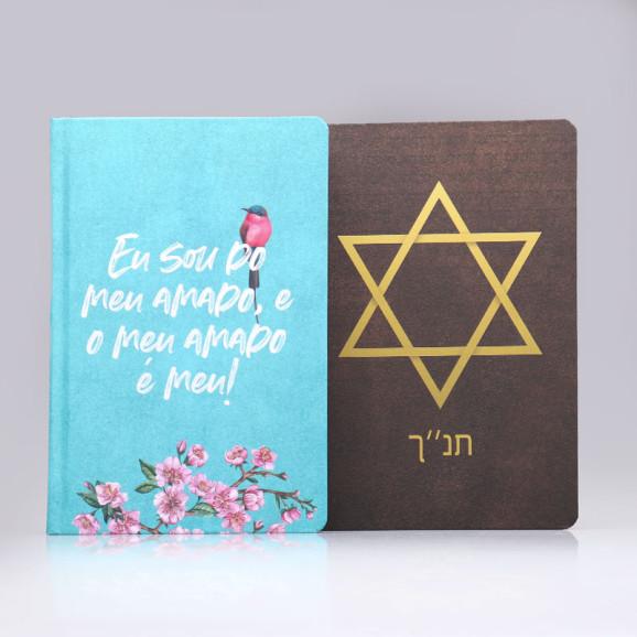 Kit 2 Bíblias King James   Casal com Deus